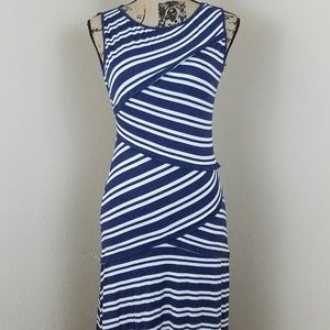 Max Studio Stripped Maxi Dress sz S
